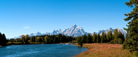 Panorama of Grand Tetons and Snake River