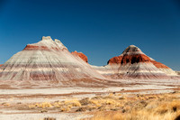 Geological Formations in the Painted Desert in Arizona, USA