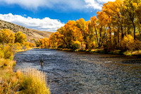 Linda Fly-Fishing in the Colorado River in Early October