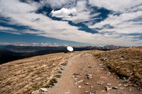 Satellite Dish on Mountain Top