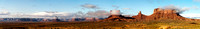 Panorama of Buttes in Monument Valley