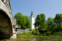 Church on Lake Bohinj in Slovenia