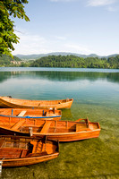 Rowboats on Lake Bled