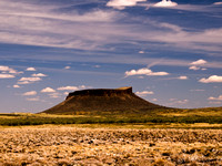 Butte in Southern Wyoming Desert