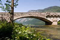 Bridge at Lake Bohinj in Slovinia