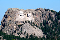 Distant View of Mount Rushmore in South Dakota